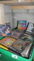A large quantity of CD's.