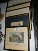 A quantity of old engravings.