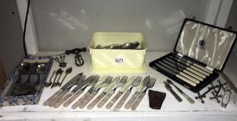 A quantity of cutlery including boxed sets
