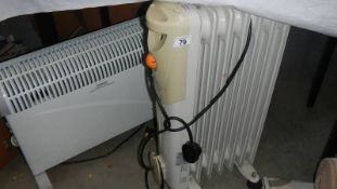 Two electric heaters.