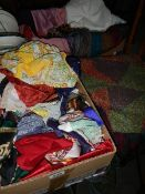 A good lot of silk and other scarves.