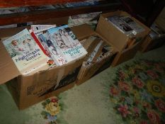 Eight boxes of good clean books.