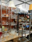 A large quantity of assorted glassware.