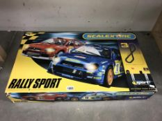 A Scalextric Rally Sport WRC Mitsubishi & Subaru (looks complete but is untested)