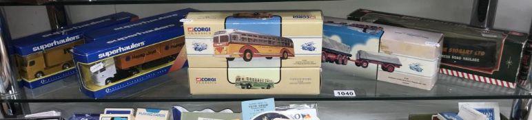 7 Corgi Classics & Super Haulers commercial vehicles & coaches