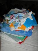 A quantity of handkerchiefs including some silk.