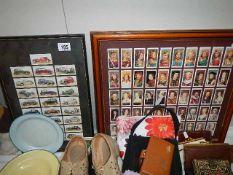 Two framed sets of tea cards.
