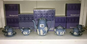 A boxed wedgwood coffee pot, milk jug,