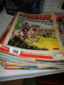 A quantity of old comics.