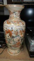 A large Satsuma vase, a/f,