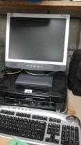 A Yundow computer monitor, Epsom printer etc.