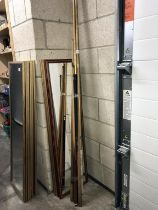 A quantity of snooker cues