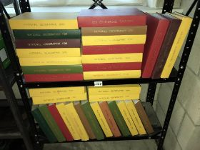 A large quantity of hardback bound National Geographic magazines