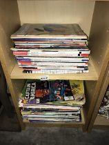 A quantity of magazines & comics including Beano, Guns & Weapons & Captain America etc.