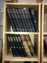 8 volumes of History of England & 8 volumes of Our own Country (2 shelves)