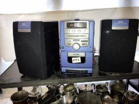 An Alba micro CD radio cassette music system