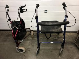 2 mobility walking aids