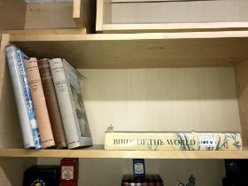 A selection of books on birds including 3 volumes of The wild fowl of the World by Peter Scott