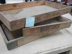 3 mid 20th century baker's trays.