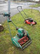 2 petrol mowers - Qualcast Suffolk Punch 43S and a Sovereign with Briggs/Stratton 450 series 148cc