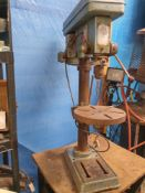 A BES pillar drill with stand, working. ****Condition report**** 4 KW Power.