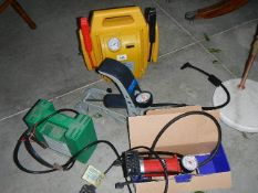 2 battery charges and 2 foot pumps.