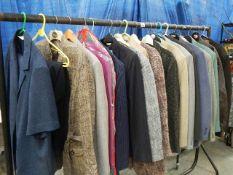 A good lot of clothing, suits etc., including Longwoods, M & S, Bon Marche etc.