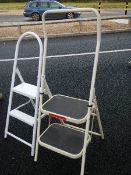 2 two tread step ladders.