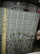 A good clean metal framed king size (5ft) bed with matching head and foot boards.