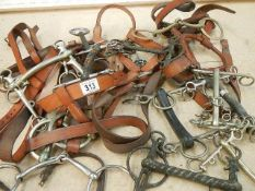 A good clean lot of horse tack including riding bits.