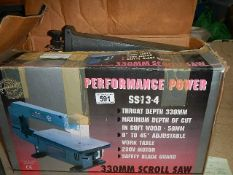 A Performance power 330 mm scroll saw in working order.