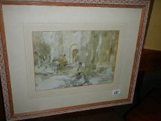 A framed and glazed Russell Flint print.