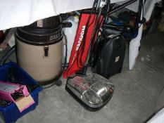 Approximately 8 vacuum cleaners for spare or repair, sold as seen.