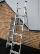 2 extending step ladders.