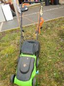 An electric lawn mower, make unknown, a/f.