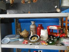 A mixed lot of pottery, china, die cast etc.