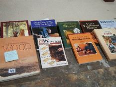 9 books relating to wood turning.