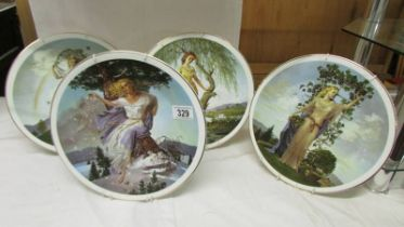 A set of four 'Seasons of the Year' plates by Fenton.