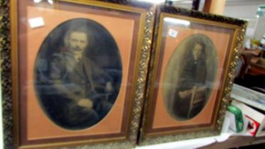 A pair of framed and glazed Victorian photographs.
