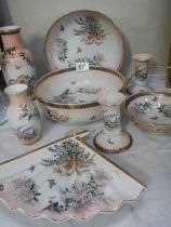 A quantity of oriental style floral patterned china.