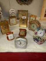 A mixed lot of clocks.