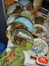 A mixed lot of collector's plates including horses and birds.