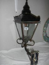 A wall mounting street lamp.