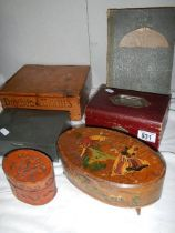 A mixed lot of boxes including jewellery.
