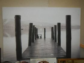 A large print on canvas.