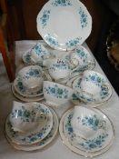 A 21 piece Queen Anne China tea set.
