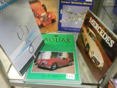 A quantity of car books including Jaguar and Mercedes,.