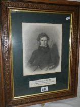 A framed and glazed portrait of Sir Joseph Banks, 1743 - 1820.