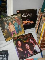 A quantity of LP records including Peggy Lee, Three Degrees, Dione Warwick etc.