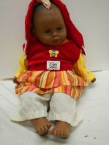 A vintage baby doll.